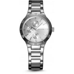 Reloj de pulsera multifunción para mujer de acero color plata Duward - D25702.01