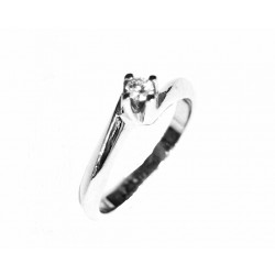 Solitario de oro con diamante - 3010742/0.11CT
