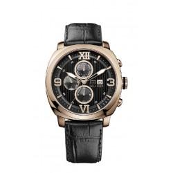 Reloj Tommy Hilfiger Fitz multifunción con correa de piel negra - 1790969