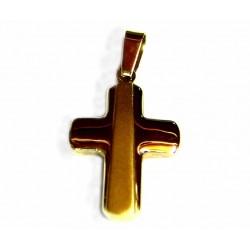 Cruz de oro de 18 kl con acabado mate y brillo  - 90828/2.5