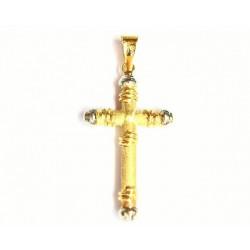 Cruz de oro bicolor de 18 kl - 55484-X/1.80