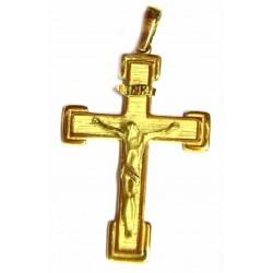 Cruz de oro  combinada mate...