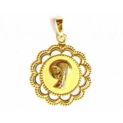 Medalla de oro de 18 kl,...
