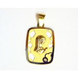 Medalla oro bicolor y...