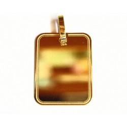 Colgante de oro rectángular...