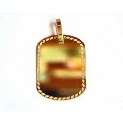 Colgante Placa en oro - 21310L