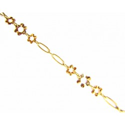 Pulsera oro flores  - 146093/4