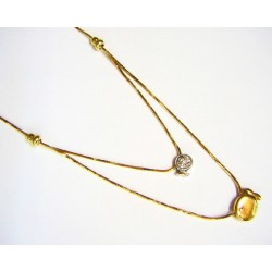 Collar de oro de 18 kl con...