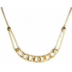 Collar de oro  con nombre...