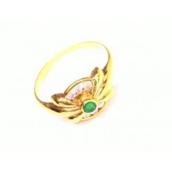 Anillo oro con esmeralda y...