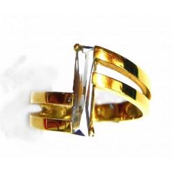 Anillo oro con topacio - 23444