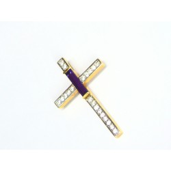 Cruz de oro de 18 quilates...