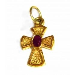 Cruz oro con rubí - 2803