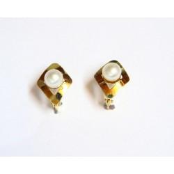 Pendientes oro con perla -...