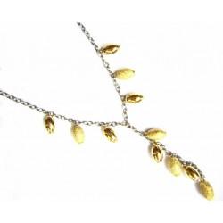 Collar de oro bicolor de 18...