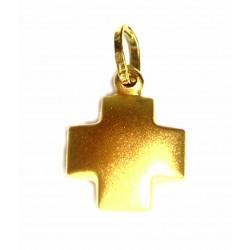 Cruz de oro de 18 kl con...