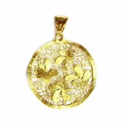 Colgante de oro bicolor de...