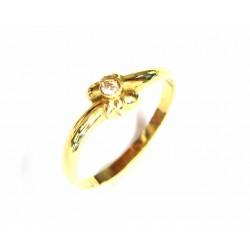 Sortija de oro con diamante...