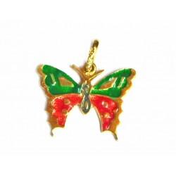 Colgante mariposa de oro de...