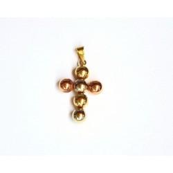 Cruz oro tricolor - 0013-D