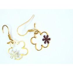 Pendientes oro Flores.136597