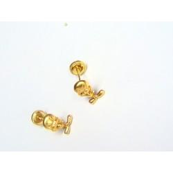 Pendientes oro Piolin.2P/00821
