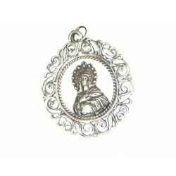 Medallón Plata Virgen...