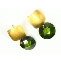 Pendientes oro con olivina....