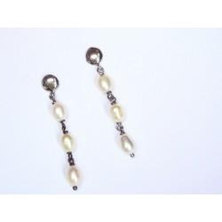 Pendientes de plata y perlas