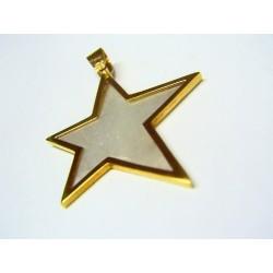 Colgante oro y nácar estrella