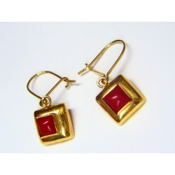 Pendientes Oro y Coral 03148