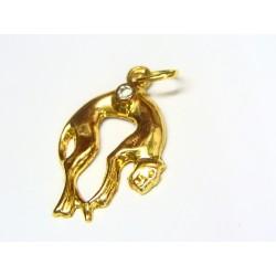 Colgante de oro con circonita