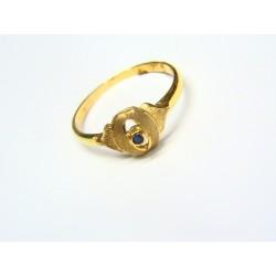 Anillo oro con zafiro 1344/AV