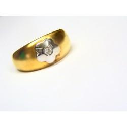 Anillo oro bicolor 734518K