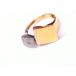 Anillo en oro bicolor 1P/00421
