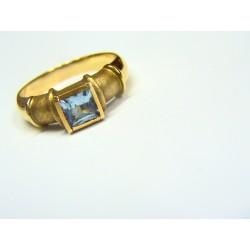 Anillo oro con aguamarina 3018