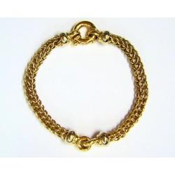 Pulsera de oro bicolor de...