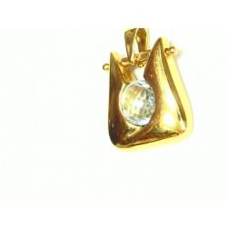 Colgante oro y circonita...