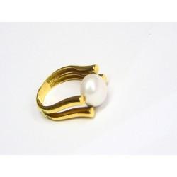 Anillo de oro con perla 779894