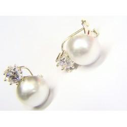 Pendientes plata con perla...