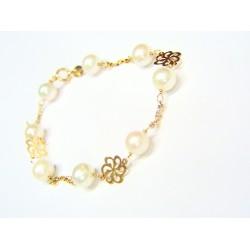 Pulsera oro con perlas...