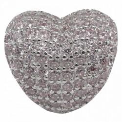Abalorio Corazón rosa para...