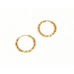 Pendientes aro de oro 18 kl - 130262